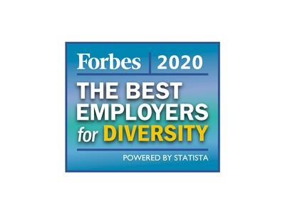Auszeichnung für die besten Arbeitgeber für Diversity von Forbes