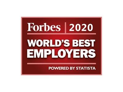 Die besten Arbeitgeber der Welt bei Forbes