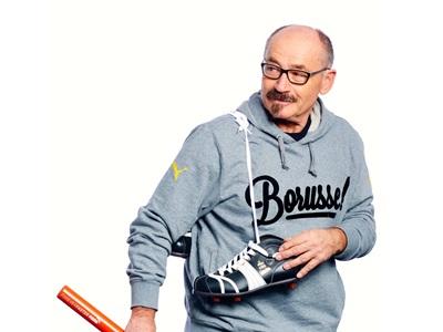 Helmut Fischer with a PUMA shoe