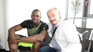 Usain Bolt and Helmut Fischer