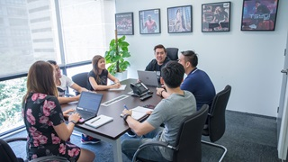 Team meeting at PUMA