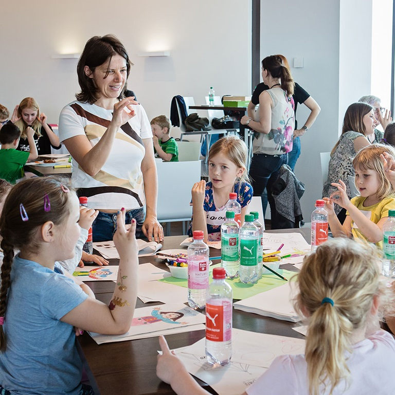 kids at PUMA event