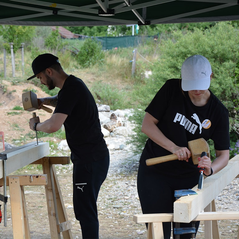two people at work