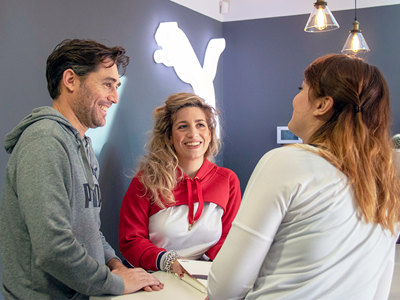 PUMA Italy employees talking with each other