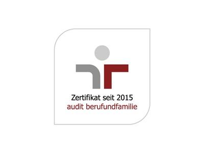 Zertifikat 2015 Beruf und Familie