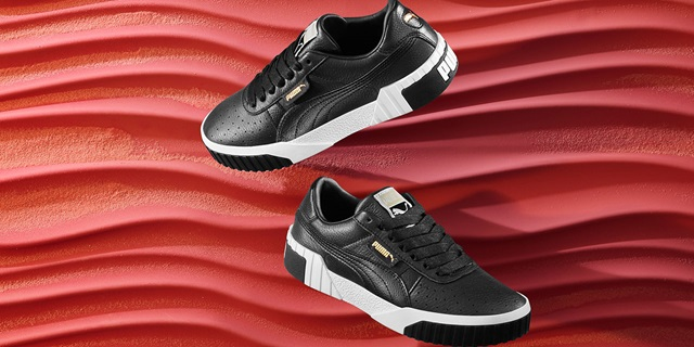 Black PUMA Cali Shoes