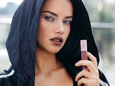 Adriana Lima with PUMA and Maybelline Lipstick