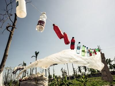 Plastikflaschen in Haiti