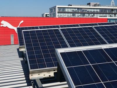 Solar panels at PUMA Headquarter