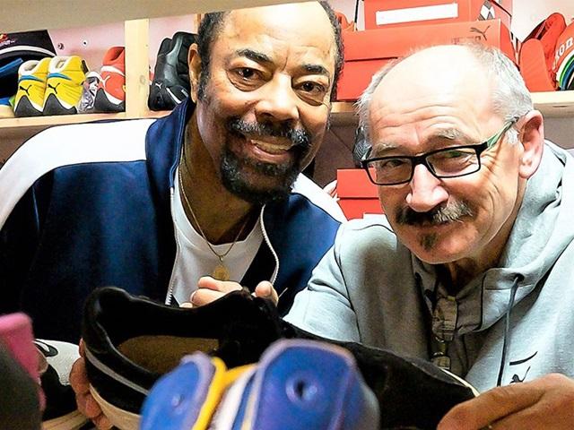 Walt Clyde Frazier und Helmut Fischer
